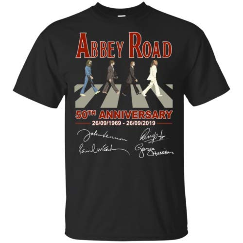 The Beatles Abbey Road 50th Anniversary Men T-Shirt S-6XL