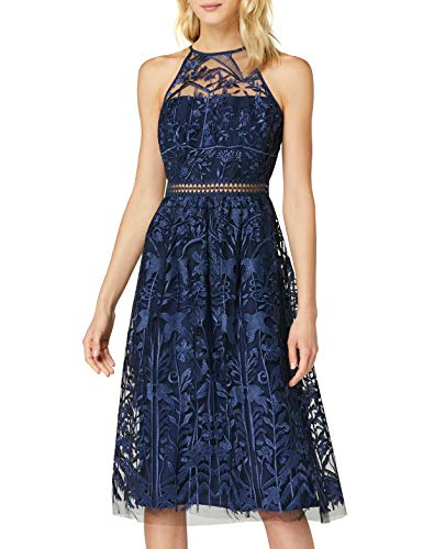TRUTH & FABLE JCM-42931 Vestidos de ocasión, Azul (Medianoche), 12