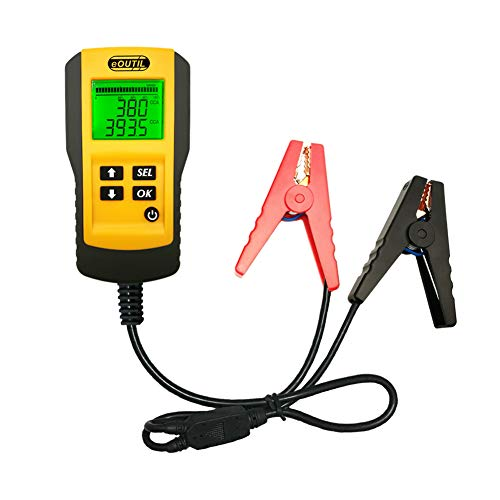 eOUTIL 12V Car Battery Tester, Auto Battery Load Analyzer with LCD Display - Test Battery Life Percentage,Voltage, Resistance and CCA Value (AE300-1)