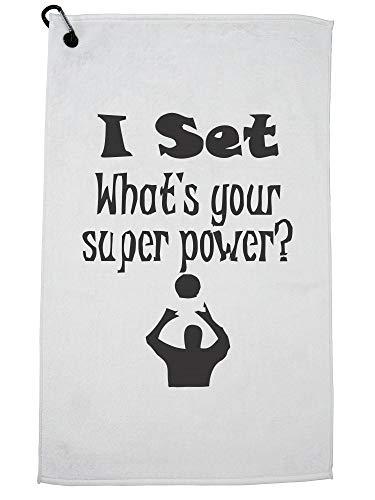 Hollywood-draad stel ik in wat je superkracht is? Volleybal Golf Handdoek met Karabijnhaak Clip