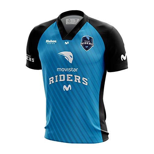 Movistar Riders Oficial 2019 Camiseta, Azul 000, X-Small (Tamaño del Fabricante:XS) para Hombre