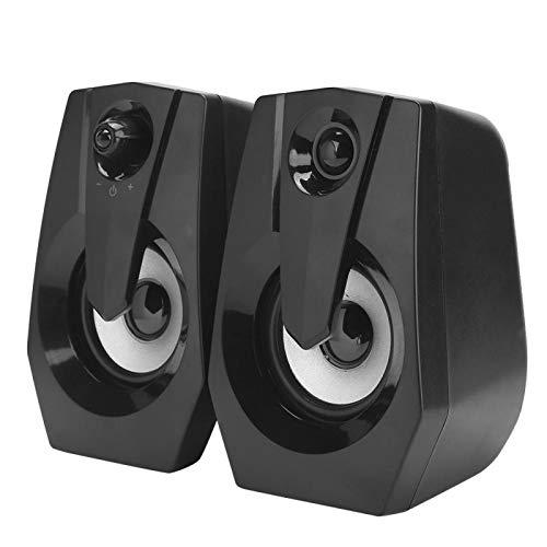 DAUERHAFT Haut-parleurs d'ordinateur Portable à réduction de Bruit Haut-Parleur HiFi sans Perte, pour lecteurs de Musique, pour payeurs MP3, pour téléphones Mobiles