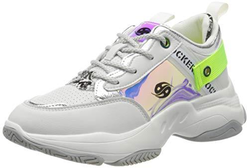 Dockers by Gerli Women's Low-Top Sneakers, White Weiss Multi 509, 8 UK