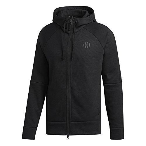 adidas Harden Shooter Hooded Herren Basketballjacke, Schwarz, XL