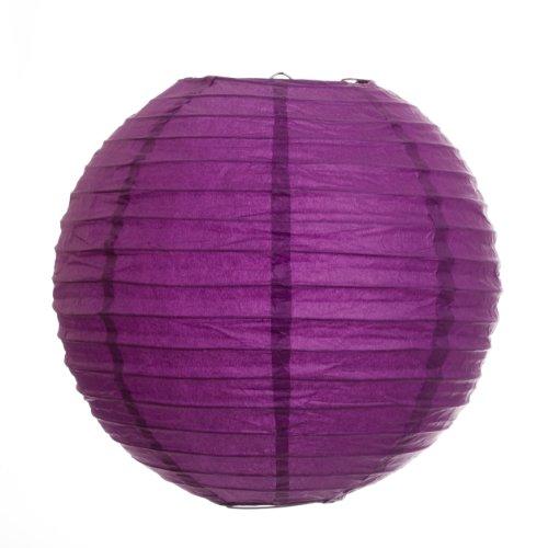 Koyal 14-Inch Paper Lantern, Plum Purple, Set of 6