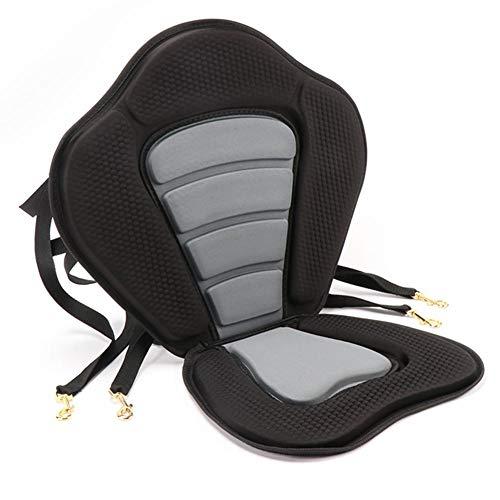 Kayak Seat, High Back Sillón De Canoa Desmontable con Soporte Trasero Universal Kayak Backrest Asiento De Canoa Acolchado Antideslizante