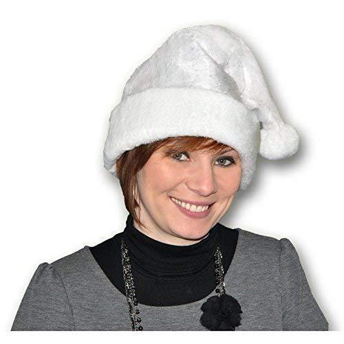 Cappello natalizio / Berretto / Cappello di peluche / Donna cappello di natale Fata di ghiaccio bianco