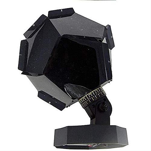 U/K Proyector Estrella luz de Noche Proyector de la Noche Luz de Cama LED Magic Astro Starlight Galaxy Star Luces de Noche Dormitorio Dormitorio Decoración Bebé Regalo (Color : Black)