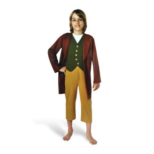 Hobbit - Bilbo Beutlin Halbling Kostüm für Kinder, 3-teilig: Jacke, Weste Hose, günstiges Komplettkostüm - S