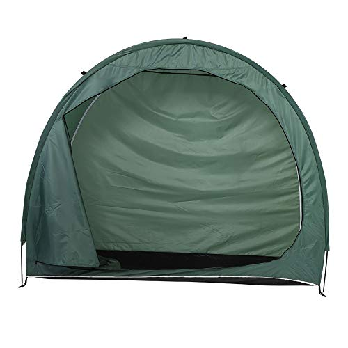 YUN MENG Portable Bicycle Shed Cover Tent Outdoor Waterproof Bicycle Tent (for 2 Bicycles) Heavy Storage Tent Bicycle Shelter, Green