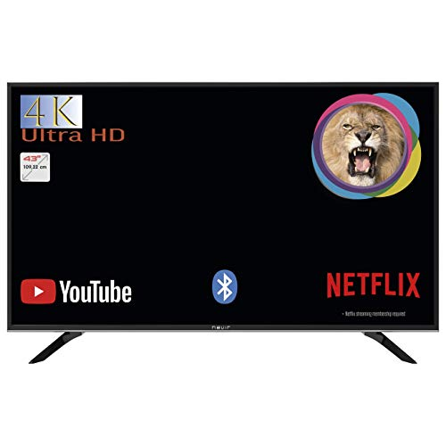 TV Nevir Led Nvr9001 434k2s-sm 43' Inch 109,22cm 4k Smart TV WiFi Netflix Bluetooth 2 USB 3 Hdmi