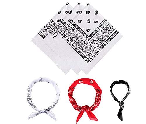 E-Senior Pañuelos Bandana, Pañuelos Rojo para Sanfermin, Unisex Bandanas de Paisley para Cuello/Cabeza/para las mujeres y los hombres