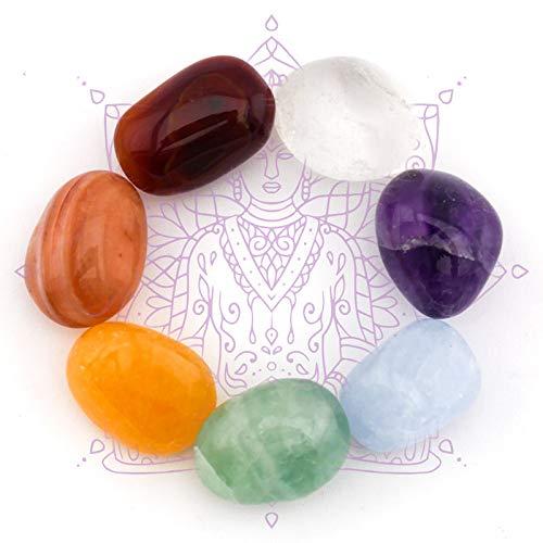 7 Chakra Edelsteine Set Jumbo für Energiearbeit, Meditation, spirituelle Therapie, Reiki