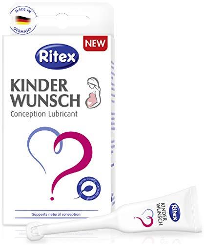 Ritex KINDERWUNSCH Fruchtbarkeits-Schmiermittel trägt zur natürlichen Gestaltung bei, klinisch getestet, 1 Dose mit 8 Applikatoren x 4 ml, Made in Germany