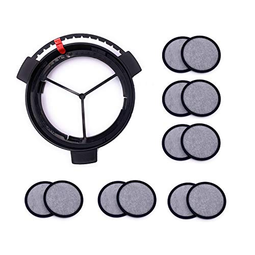 Replacement Coffee Maker Water Filtration Set Filter Disk with Frame for Mr. Coffee Brewers Coffee Maker, Compatible Mr Coffee Filter Dics (1Disk Frame +12 Filter Disks )