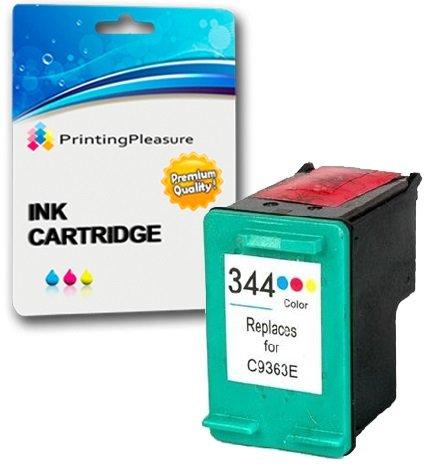 Printing Pleasure Color Cartucho de Tinta Compatible para HP Photosmart 2570 2573 2575 2605 2610 2710 8050 8150 8450 8750 DeskJet 5740 5940 5950 6540 6840 6940 6980   Reemplazo para HP 344 (C9363EE)