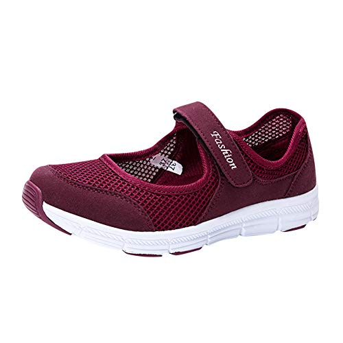 Daytwork Zapatos para Mujer Sandalias Deportivas - Sneaker Ligero Bailarinas Confort Clásico Plano Caminando Malla Zapatos de Agua