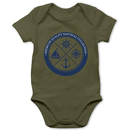 Shirtracer Up to Date Baby - Premium Quality Nautical Collection Sailing - 3/6 Monate - Olivgrün - Kind - BZ10 - Baby Body Kurzarm für Jungen und Mädchen