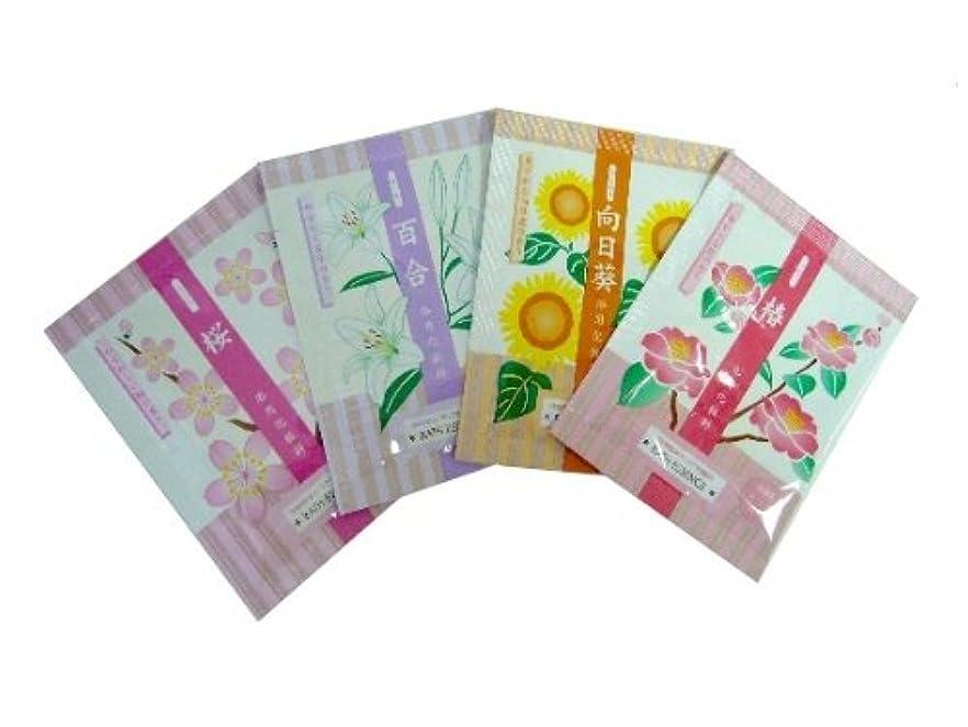 拷問冒険家注意入浴剤 花の入浴料シリーズ 4種 各10包?計40包セット