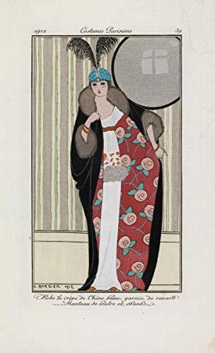Berkin Arts George Barbier Giclee Lienzo Impresión Pintura póster Reproducción Print (Vestido...