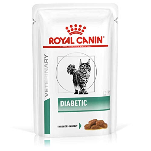 Royal Canin Vet Diet Diabetic Frischebeutel Katze, Option:48 x 100 gr
