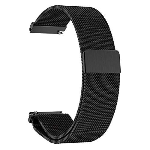 ANNYOO Armband für Gear S3 Classic/S3 Frontier, 22 mm Stegbreite Mesh Gewebte Uhrenarmband Edelstahl Metall Armband für Samsung Galaxy Watch 46mm (Schwarz)