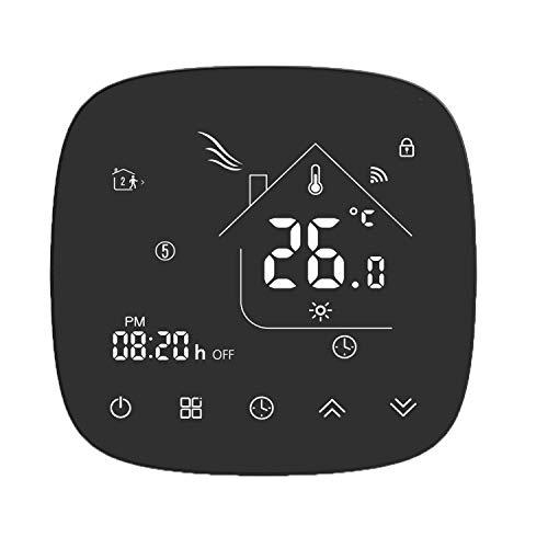 Termostato Inteligente para Caldera de Gas,Termostato Calefaccion WiFi Pantalla LCD (Panel Cepillado)...