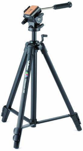 Velbon Videomate 538/F Aluminium Dreibein-Stativ inkl. PH-358 Kopf (Höhe 161 cm, Belastbarkeit 2 kg) V36022
