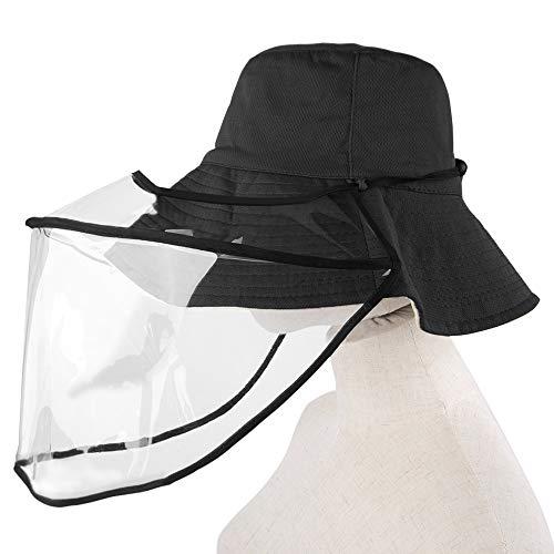 SlowTon Sombrero de Pescador, Sombrero de Multifuncional Plegable y Desmontable, A Prueba de Polvo y A Prueba de Agua para Cara Completa al Aire Libre Sombreros para Adultos Mujeres Hombres