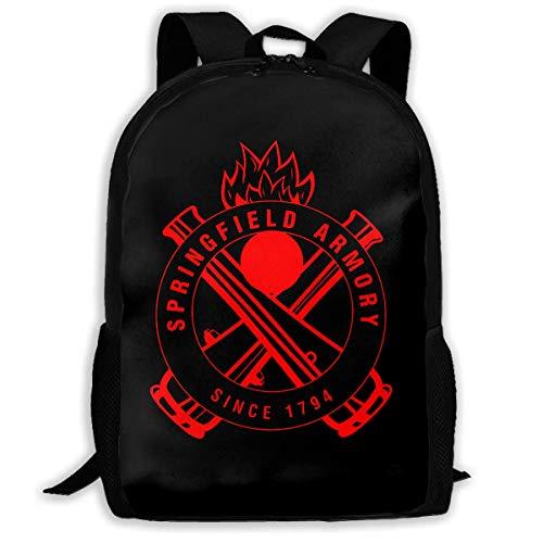 TTmom Mochilas Tipo Casual,Bolsa de Viaje Springfield Logo Unisex Backpack Shoulder Bag School Backpack Travel Bags Laptop Backpack