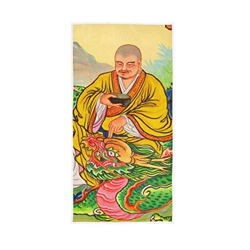 XiangHeFu De Polyvalent Hautement Absorbant Dieux Chinois Temples Muraux Yoga Serviette De Bain Gant de Toilette Ultra Doux