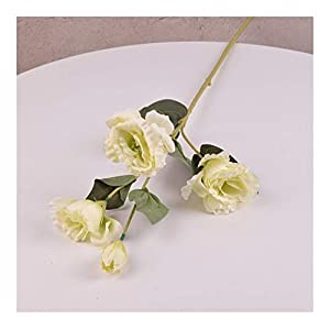 Fresh Gardenia Artificial Flowers Silk Simulation Platycodon Grandiflorum Botanical Plant Home Wedding Decoration Color (Color : Green)
