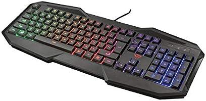 Trust Gaming GXT 830-RW Avonn Gaming Toetsenbord Keyboard (QWERTY Layout, Rainbow Wave LED Verlichting, 12...