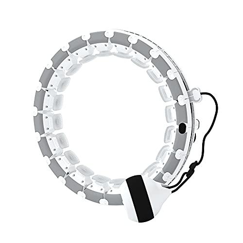 Hula Hoop Reifen Erwachsene,Smart Hoola Hoop mit 24 Abnehmbare Teile und Gewichte Ball verstellbare Größe sehr gut geeignet für Anfänger, Fitness- und Gewichtsverlusttraining