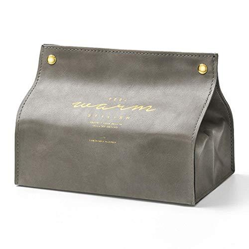 rickie_cao Caja de pañuelos de Cuero nórdica Creativa para el hogar, Sala de Estar, Papel de Seda Creativo para el hogar, Caja de Papel para Mesa de café para automóvil