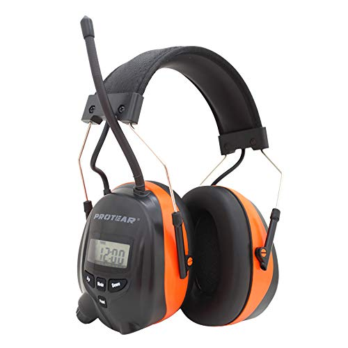 PROTEAR Bluetooth- und Radio-Gehörschutz, kompatibel mit Mobiltelefon / MP3, Noise Blocking-Gehörschutz für Werkstatt, Garten/Mähen, CE-zertifiziertes SNR 30dB