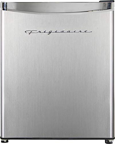 Frigidaire EFR182 1.6 cu ft Stainless Steel Mini Fridge. Perfect for Home or The Office. Platinum Series, 1.8