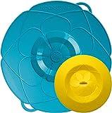 Kochblume - das Original vom Erfinder Armin Harecker L 29 cm türkis | Überkochschutz für Topfgrößen von Ø 14 bis 24 cm | mit Frischhaltedeckel gratis
