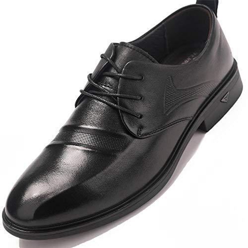 Herrenschuhe Herren Casual Business Lederschuhe Wildleder Lederkleid Herrenschuhe Einzelschuhe Atmungsaktive Schuhe@Schwarz_41