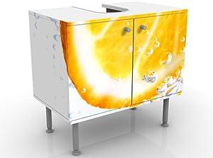 INDIGOS UG Diseño Lavabo Splash Naranja 60x 55x 35cm