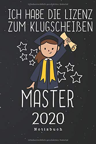 Ich habe die Lizenz zum Klugscheißen Master 2020 Notizbuch: Notizbuch für Bachelor 2019 Absolventen | Notizblock Geschenk Idee zum Bachelor-Abschluss ... Seiten Journal | Liniert, Kladde im A5 Format