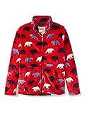 Hatley Fuzzy Fleece Jacket Chaqueta con Forro, Osos Polares Salvajes, 6 años para Niños