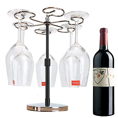 Wine Glass Rack Countertop, Countertop Wine Glass Holder, Freestanding Wine Glass Holder Countertop, Wine Glass Drying Rack, Wine Glass Stand for Living Room (Silver)