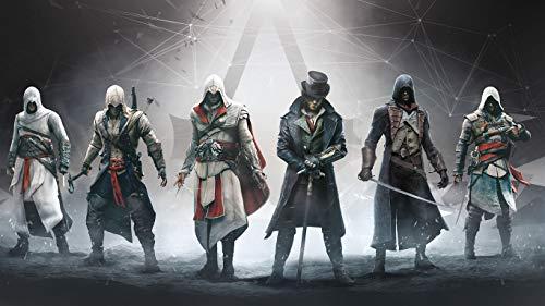 Adult Jigsaw Puzzle 1000 Assassin's Creed The Ezio Collection Exquisitos coleccionables y regalos de cumpleaños, juegos de rompecabezas clásicos,
