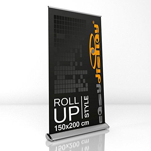 Design Roll Up Display 150x200cm inkl. Druck, Werbeaufsteller RollUp Style, Displaybanner