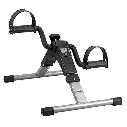 Uten Mini Bicicleta Estática Plegable Máquina Pedalear Manos Piernas Rehabilitación Pedalier Desmontable Ejercitador de brazos y piernas (negro)