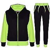 A2Z 4 Kids® Kinder Trainingsanzug Mädchen Jungen Designer Plain Kontrast - T.S Plain 101 Neon...