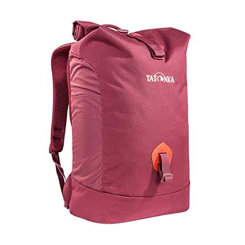 Tatonka Kurierrucksack Grip Rolltop Pack S - Daypack mit 10-Jahren Produkt-Garantie und 13' Laptopfach - Tagesrucksack mit Rollverschluss - 25 Liter - bordeaux rot