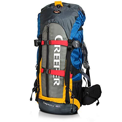 PELLOR Trekkingrucksäck 60L, Unisex Wasserdicht Professional Outdoor Wanderrucksack...