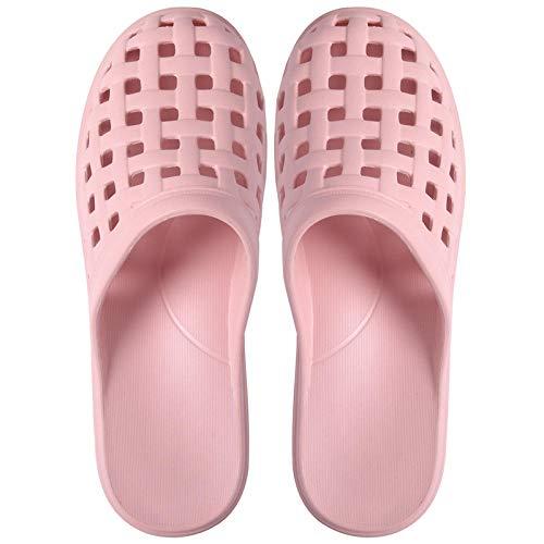 N/A Zapatos de mar, Muebles de baño, Zapatos con Orificios para Parejas, Zapatillas de plástico con Puntera Antideslizante para Mujer, Color Rosa